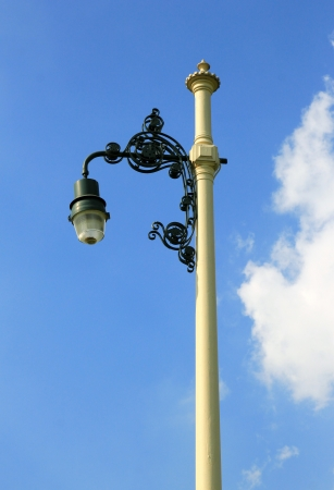 Retro street lamp-post on blue sky Stock Photo - 17235562