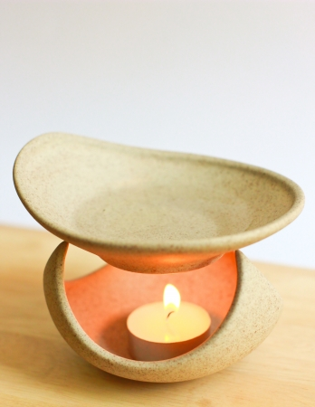 Aromatherapy lamp and candle photo