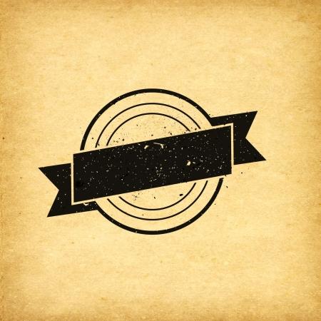 Insignia de la etiqueta del vintage fondo de papel viejo Foto de archivo