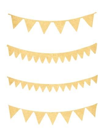 페넌트와 오래 된 종이에서 깃발 천 컬렉션
