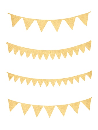 Pennant és sármány gyűjtemény régi papír Stock fotó