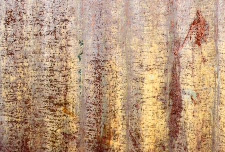 Rusty corrugated iron metal texture Stock Photo - 20681404