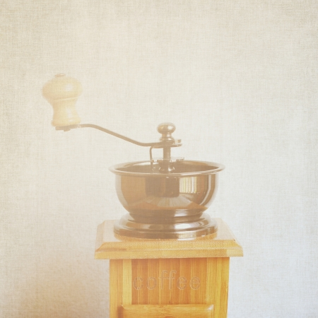 Coffee grinder with retro filter effect photo