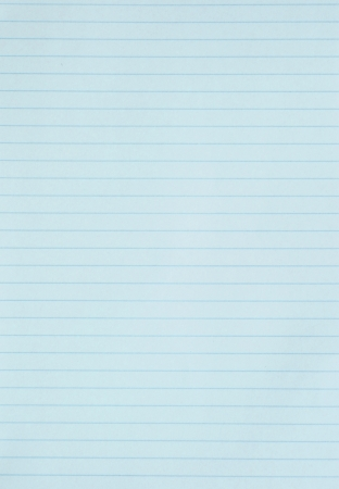 Blank blue lined paper sheet background or textured  photo