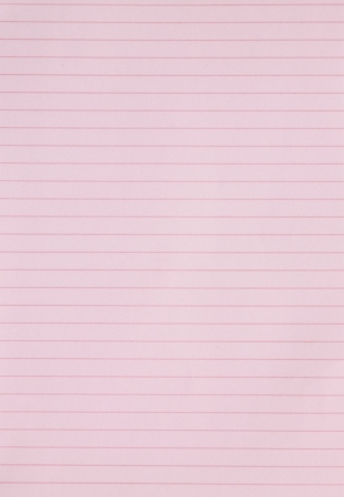 Blank pink lined paper sheet background or textured  photo