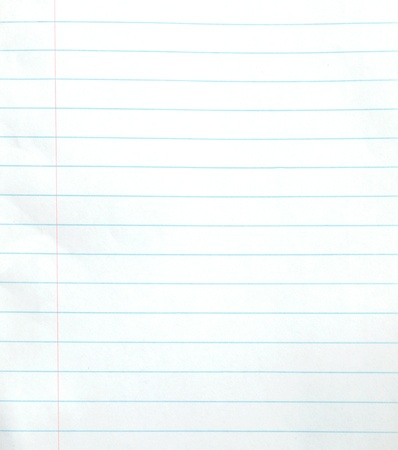 ruled paper: Blank lined notebook paper background or textured  Stock Photo