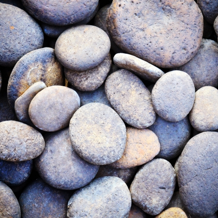 zen stones: Pebble stone background for spa with retro filter effect Stock Photo