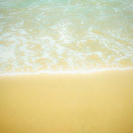 Sea beach with retro filter effect photo