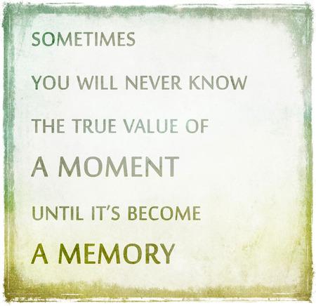 Inspirerend citaat door onbekende bron op frame grunge achtergrond Stockfoto