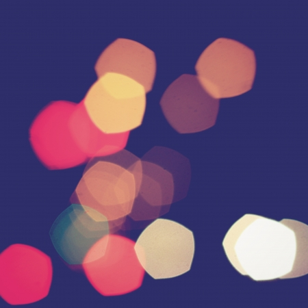 pentagon: Colorful pentagon bokeh light vintage background