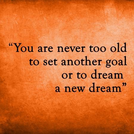 Inspirational citazione motivare sul vecchio grunge Archivio Fotografico