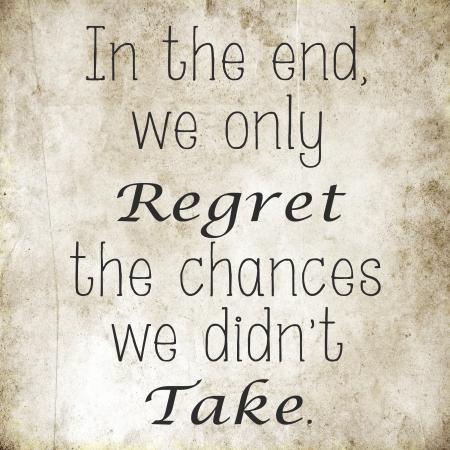 Inspirational citazione motivare sulla vecchia carta grunge Archivio Fotografico