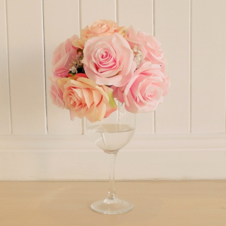 Bunch of rose in glass for decoration with retro filter effect Stock Photo - 24548992