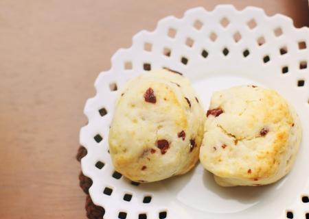 Top view of freshly baked scones  photo