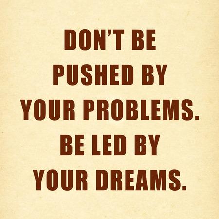 Inspirational motivating quote on paper  Standard-Bild