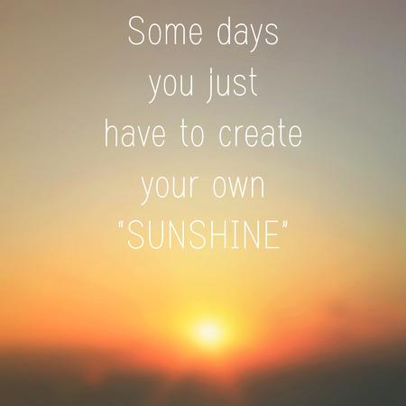 Вдохновенный мотивация цитатой на рассвете фоне Фото со стока