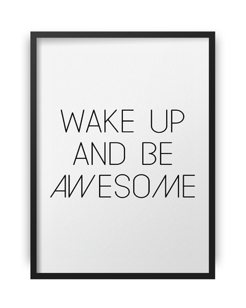 motivating: Inspirational motivating quote poster on frame background Stock Photo