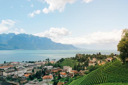 interlaken: Beautiful view of Interlaken, Switzerland Stock Photo