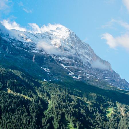 interlaken: Swiss Alps landscape near Interlaken in Switzerland Stock Photo