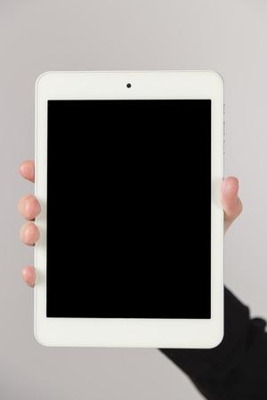 blank tablet: A Businessman Showing Blank Digital Tablet, Close-up