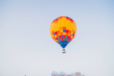 NIZHNY NOVGOROD, RUSSIA - FEBRUARY 24, 2018. Festival of hot air ballons