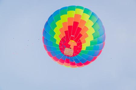 Colorful hot air ballon on the air Stockfoto