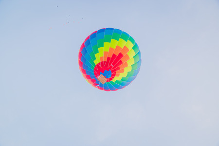 Colorful hot air ballon on the air Archivio Fotografico