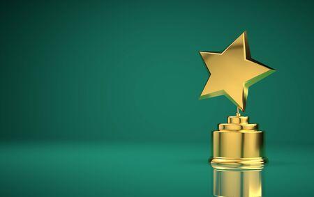 Star award green background Stock Photo