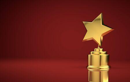 Star award red background