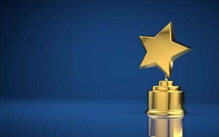Star award blue background Stock Photo