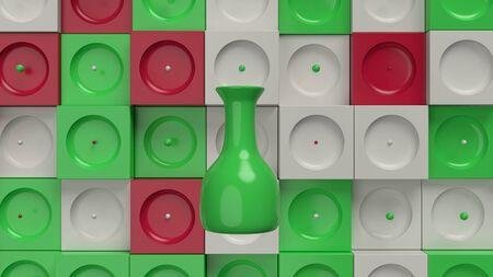 Seamless pattern. Vase. Stock Photo