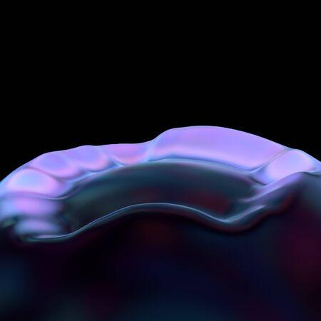 illustration pink blue light cosmic landscape.