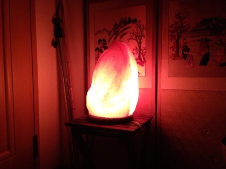 salt lamp: Crimson salt