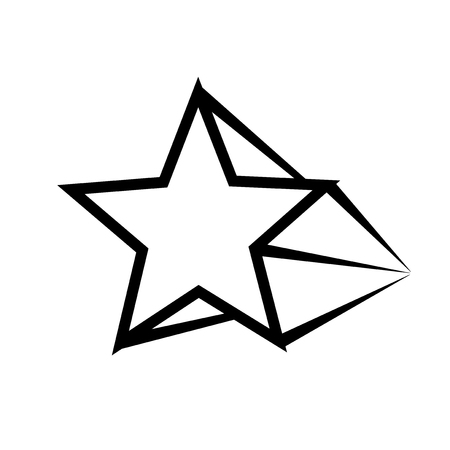 Star. Symbol of decoration, award, quality, rating. Isolated vector icon, sign, emblem, pictogram. Flat style for design, web, logo or UI. Eps10 Illustration