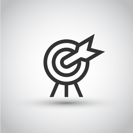 Target icon with arrow. Illustration