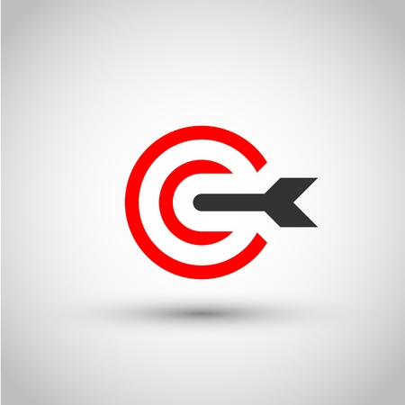 Target. Isolated vector icon
