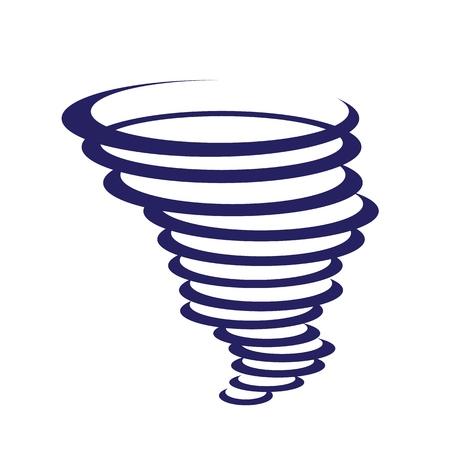 Vector tornado wind icon Vectores