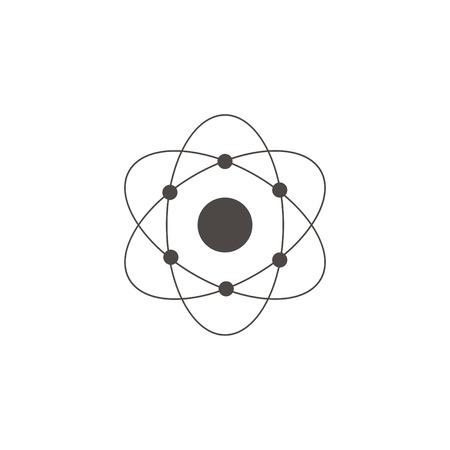 Atom physics science core vector illustration concept Vector Illustration
