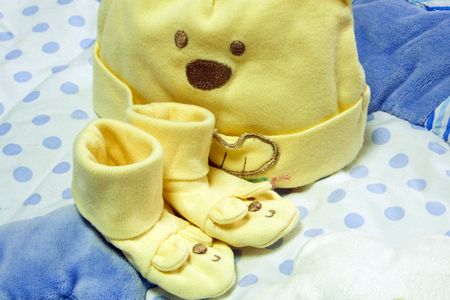 Pretty baby supplies (layette) Stock Photo