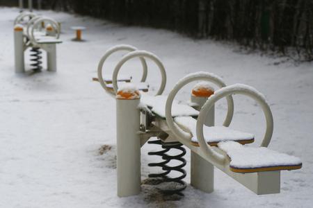 Snow playground for children