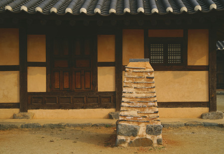 Asan Oeam-ri Asami Oeam-ri Traditional house chimney Stock Photo