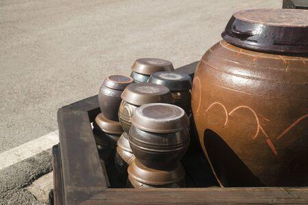 Jangdokdae, jar, crock, hometown, fragrance, stored food, traditional, sunchang, fermented food 스톡 콘텐츠