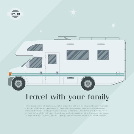 family van: Modern flat camper van.
