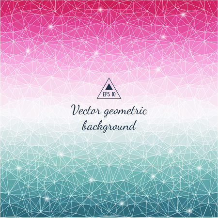wall cell: Abstract cell triangle background. Geometric color design. Good for card, invitation, greeting, presentation, marketing materials, tile, wall decor, house and furniture decoration. Vector illustration