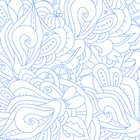 Abstract  background. Doodle perfect for cards, invitations, wedding, t-shirt, brochure, flyer, presentation. Indian east style. Floral design with narcissus. Vector illustration.