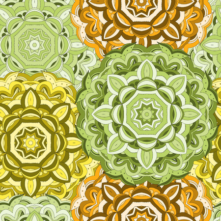east indian: Vintage colorful seamless oriental mandala pattern. East Indian style. Beautiful background for card, invitation, flyer, birthday, mothers day, wedding, textile, wrapping paper. Vector illustration.