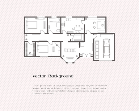 house plan background for card, banner, presentation template, Presentation templates