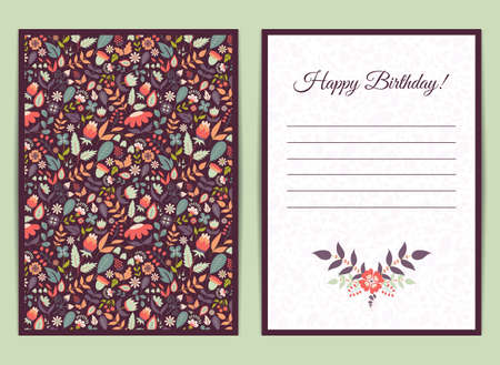 Cute gentle card with floral pattern