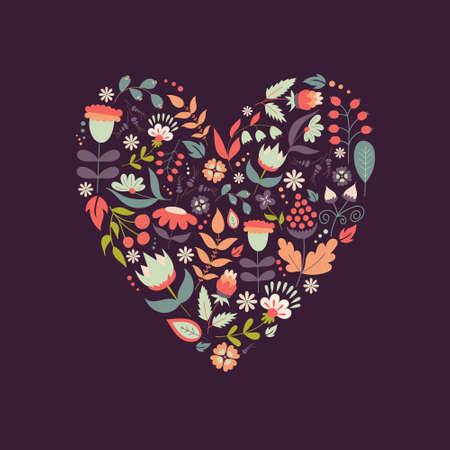 Cute vintage heart shape