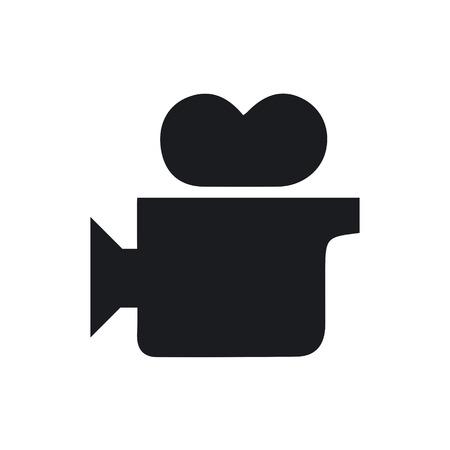 video camera icon: Cinema Video Camera Icon Illustration